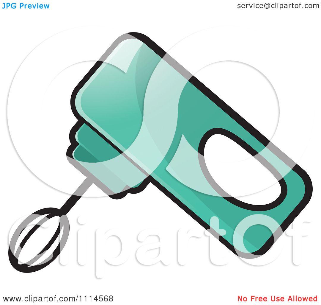 Mixer Clip Art ~ Clipart green handheld electric mixer royalty free
