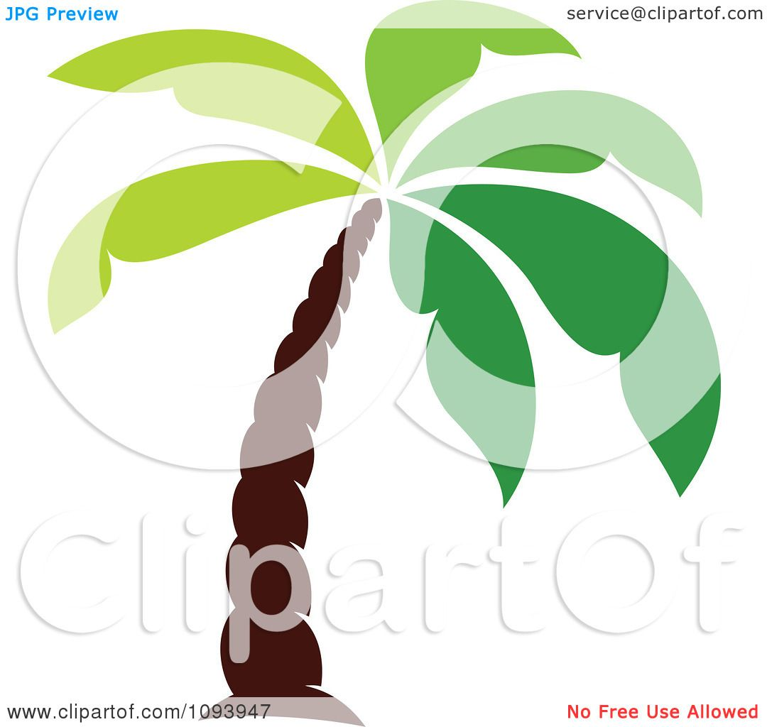 Clipart Green Palm Tree Logo - Royalty Free Vector Illustration by ...