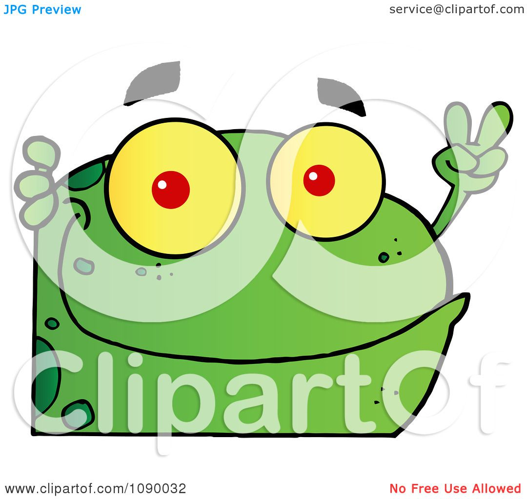 clipart green peace frog looking around a corner royalty free rh clipartof com Tree Frog Vector Tree Frog Vector