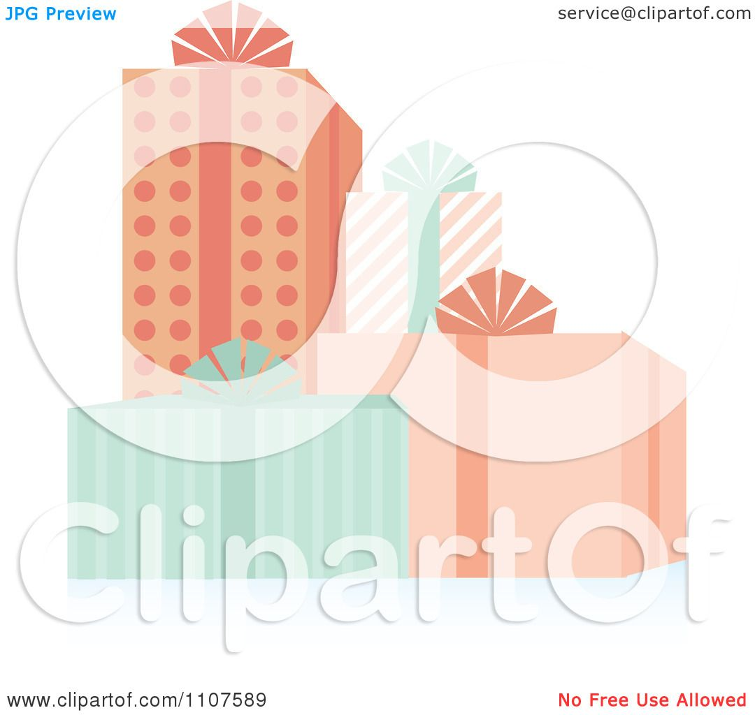 Baby Gift Vector : Clipart group of baby shower gifts royalty free vector