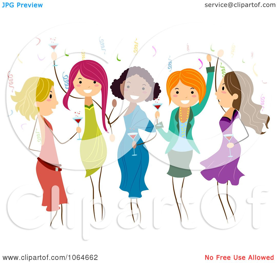 Free rf poodle clipart illustration 215241 by bnp design studio - Clipart Group Of Ladies Dancing At A Party Royalty Free Vector Illustration