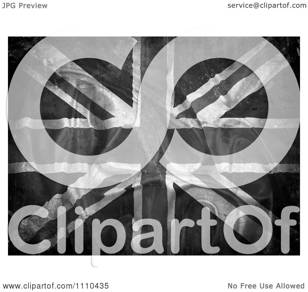 Clipart Grungy Grayscale Ripped Union Jack Flag - Royalty ...