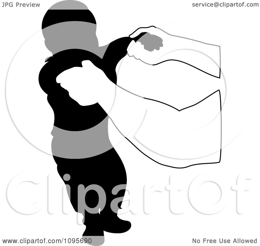Clipart Hands Holding Up A Silhouetted Baby During His First Steps ...