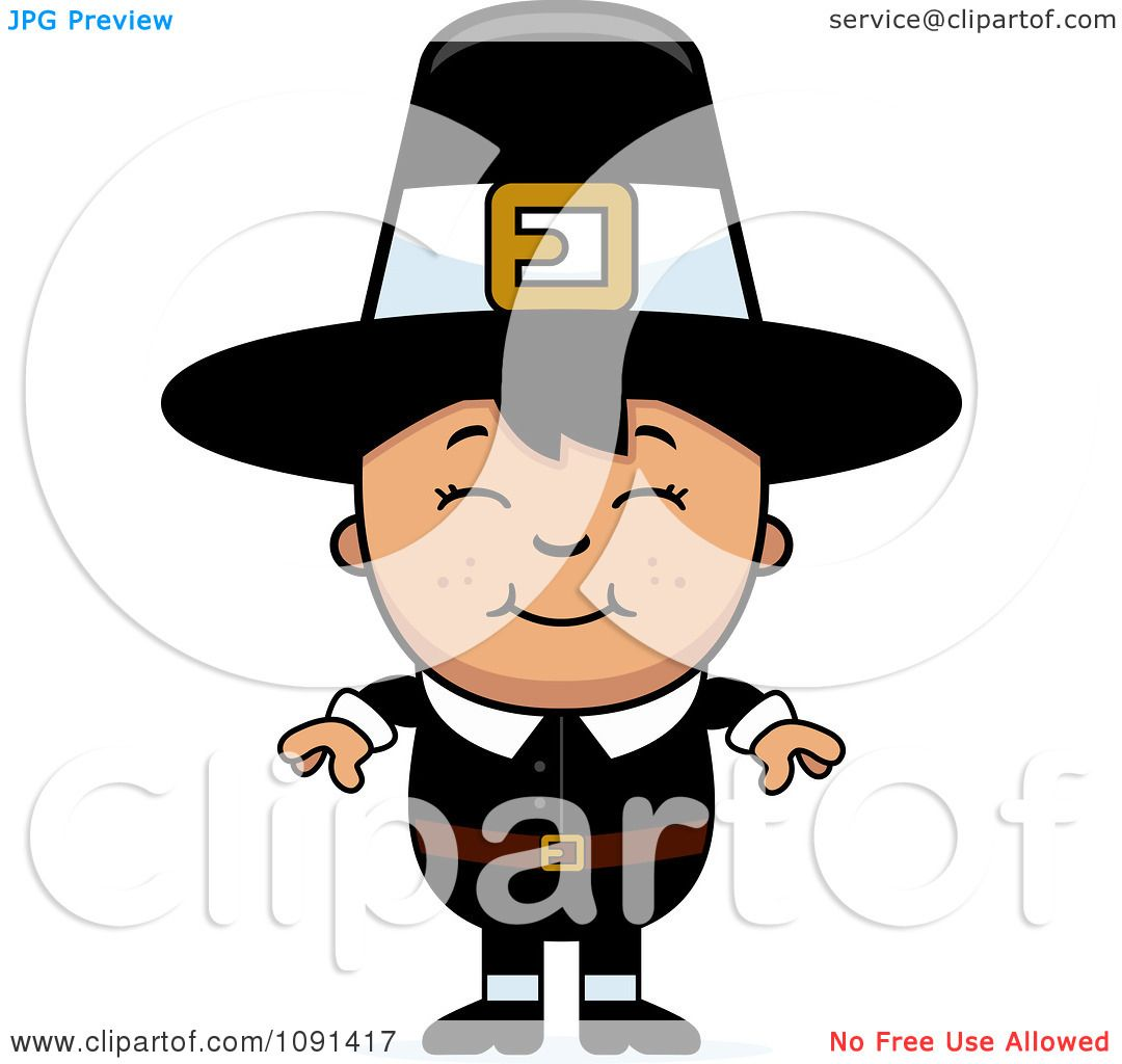 clipart happy asian pilgrim boy royalty free vector illustration rh clipartof com