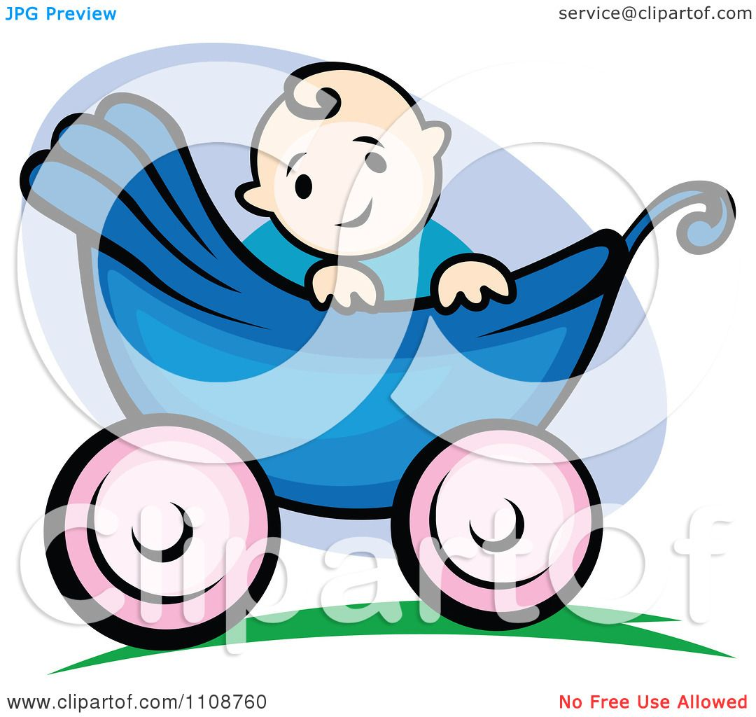 Royalty-Free (RF) Clipart Illustration of a Blond Baby Boy