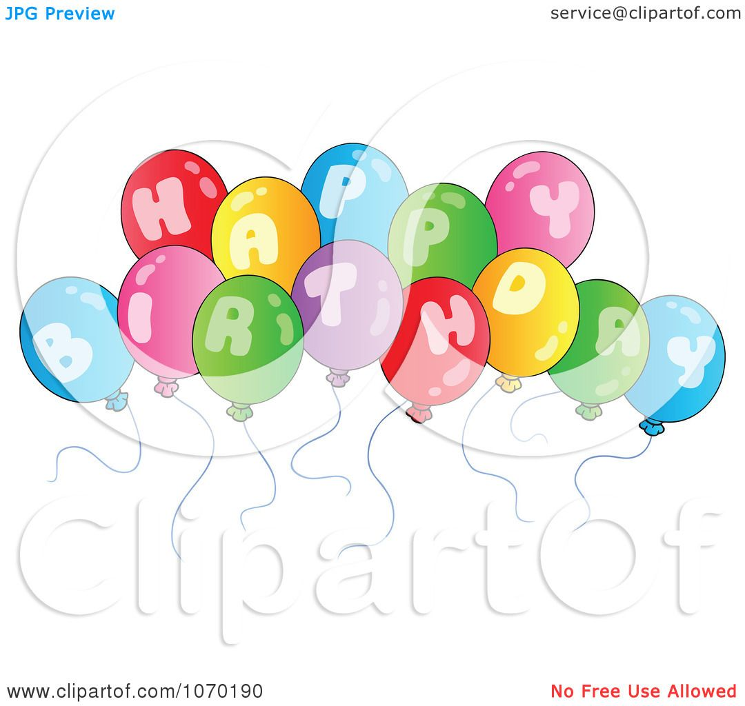 Royalty Free Birthday Images ~ Clipart happy birthday balloons royalty free vector illustration by visekart