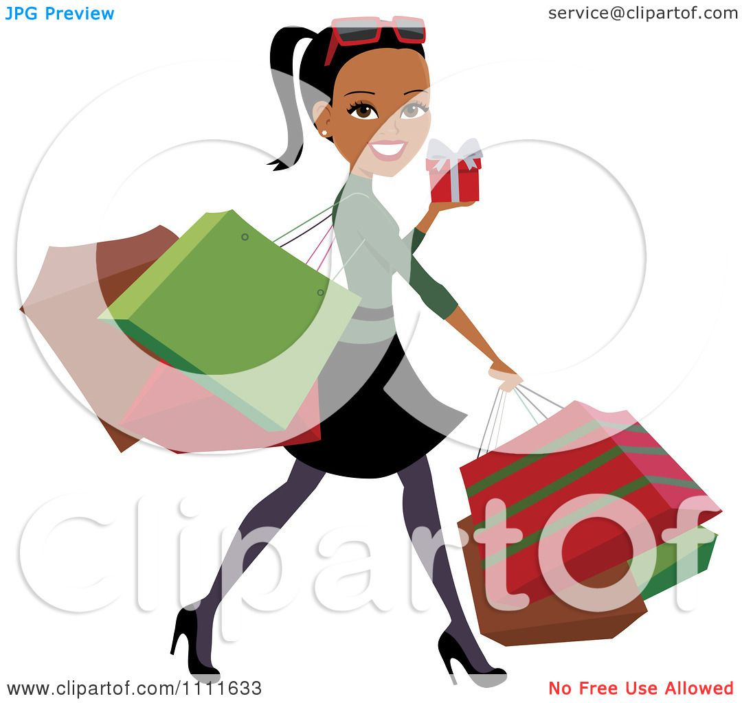 clipart happy black woman carrying bags and christmas shopping clipart free download shopping cart clipart free