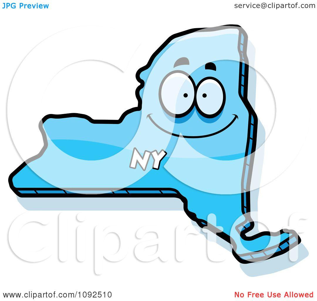 Clipart Happy Blue New York