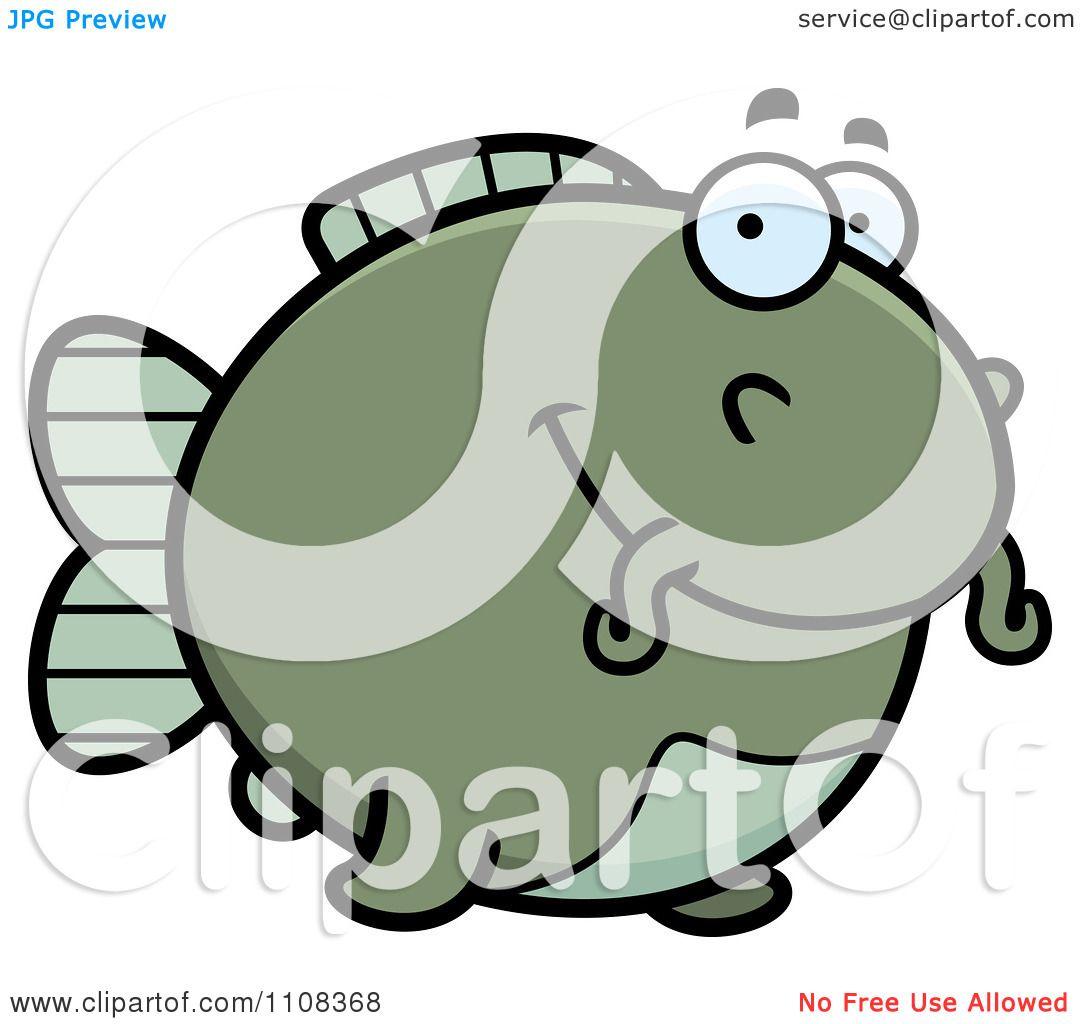 Clipart Happy Chubby Catfish - Royalty Free Vector ...