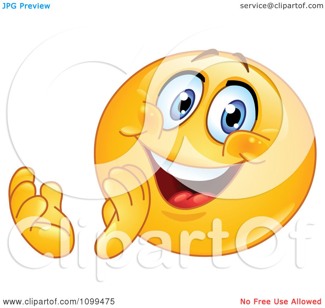 Clipart Happy Emoticon Clapping And Smiling - Royalty Free ...  Applause Clip Art