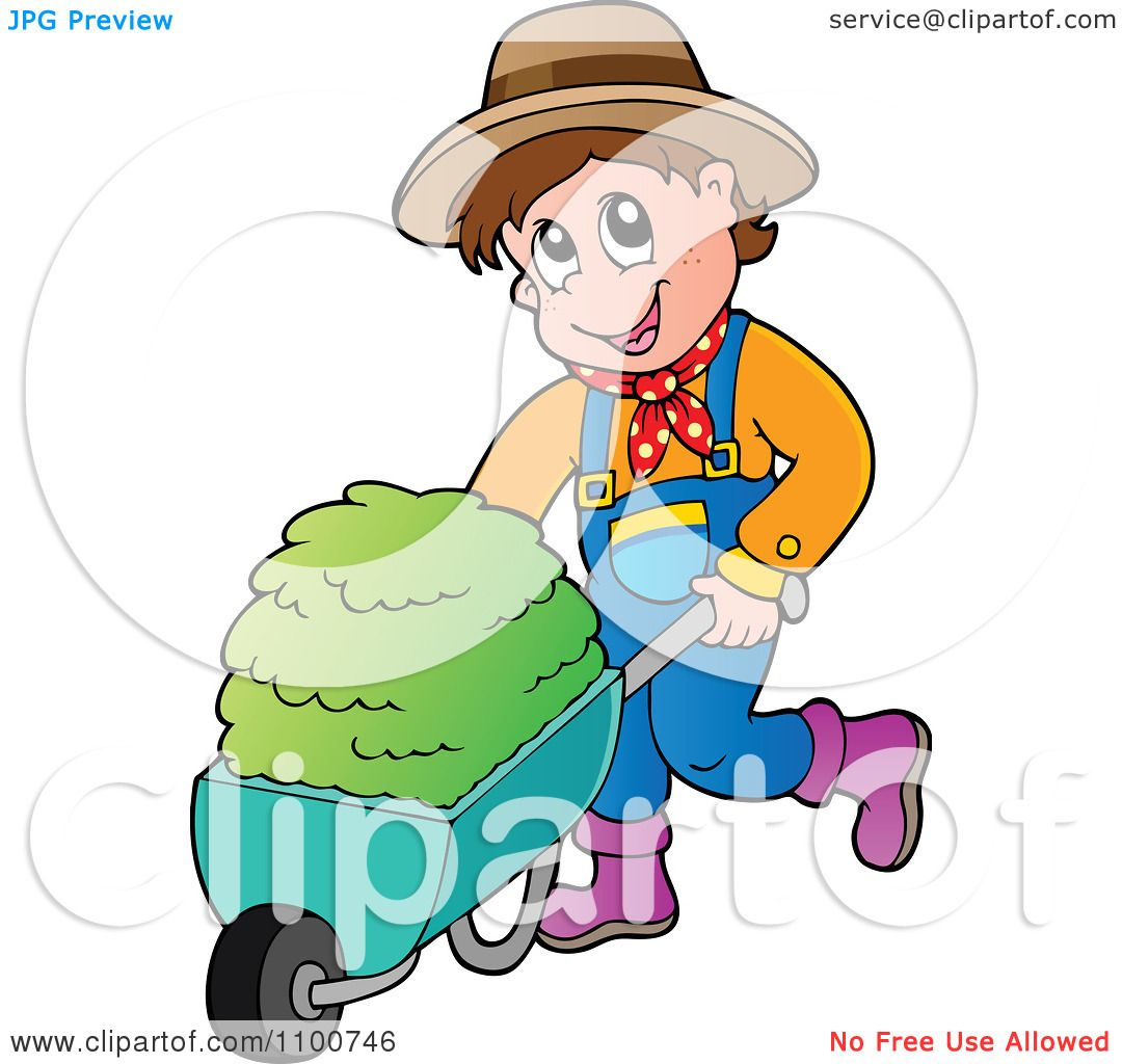 No Pushing Clipart Clipart happy farmer pushing