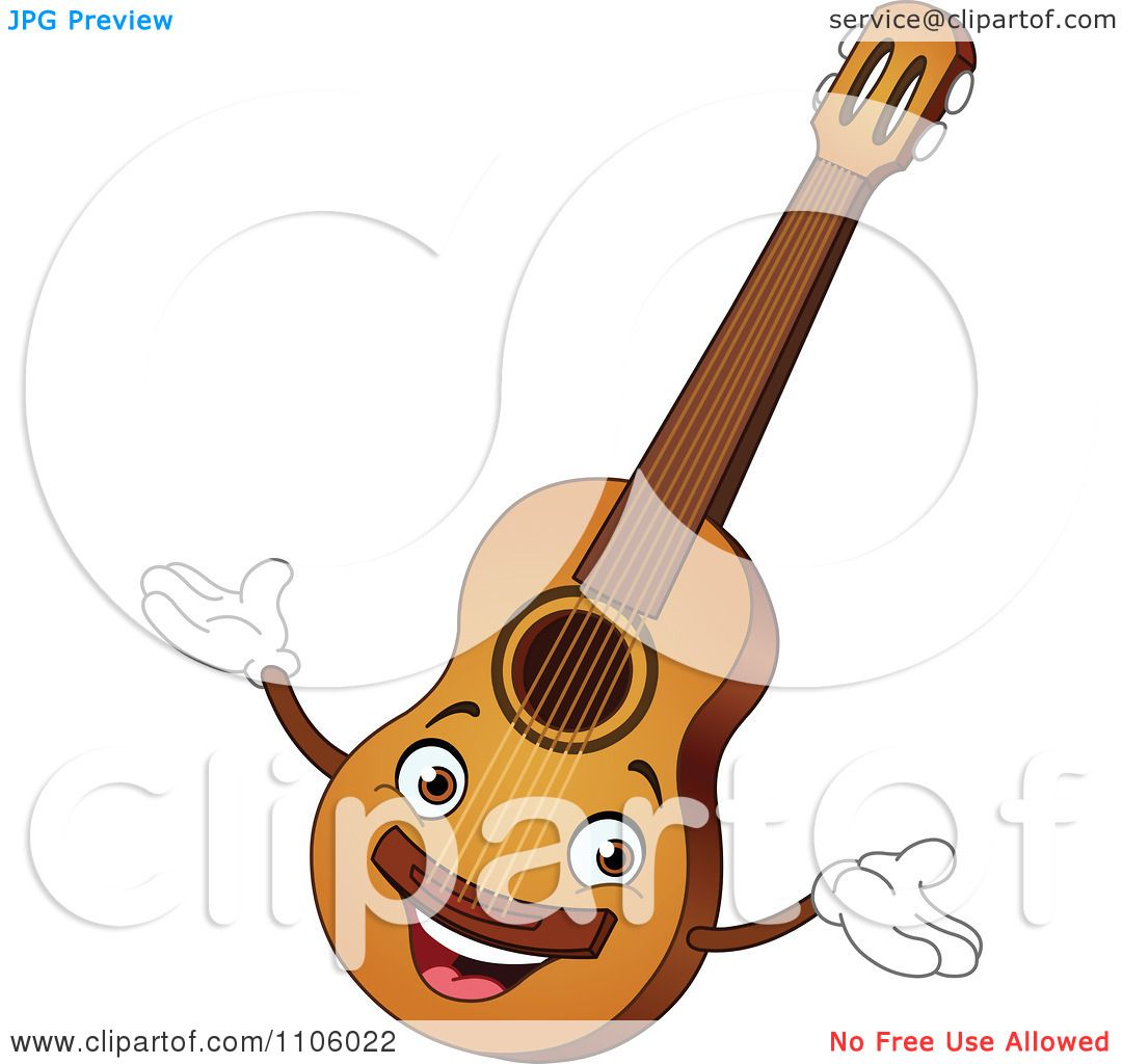 Blues Guitar Clip Art Clipart happy guitar