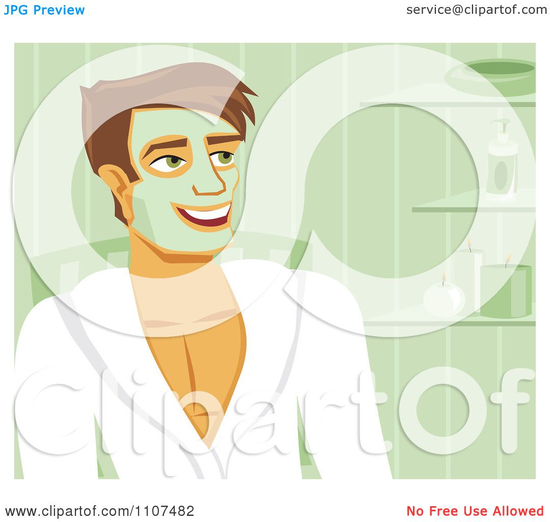 Clipart-Happy-Man-With-A-Green-Facial-Mask-On-At-The-Spa-Royalty-Free-Vector-Illustration-10241107482.jpg