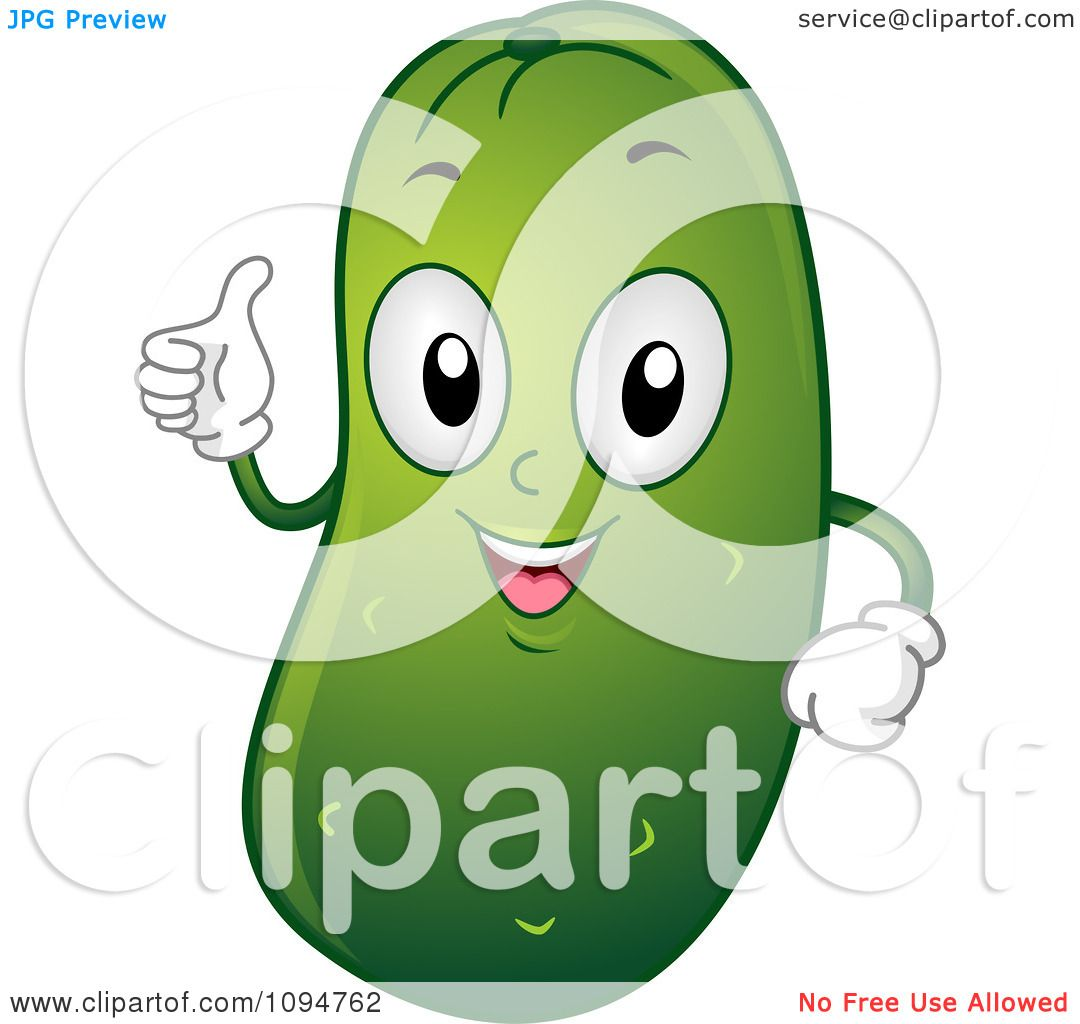 Clipart Happy Pickle Holding A  Happy Pickle Clipart