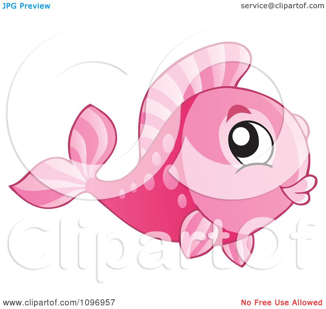 Clipart Happy Pink Fish Royalty Free Vector Illustration 10241096957