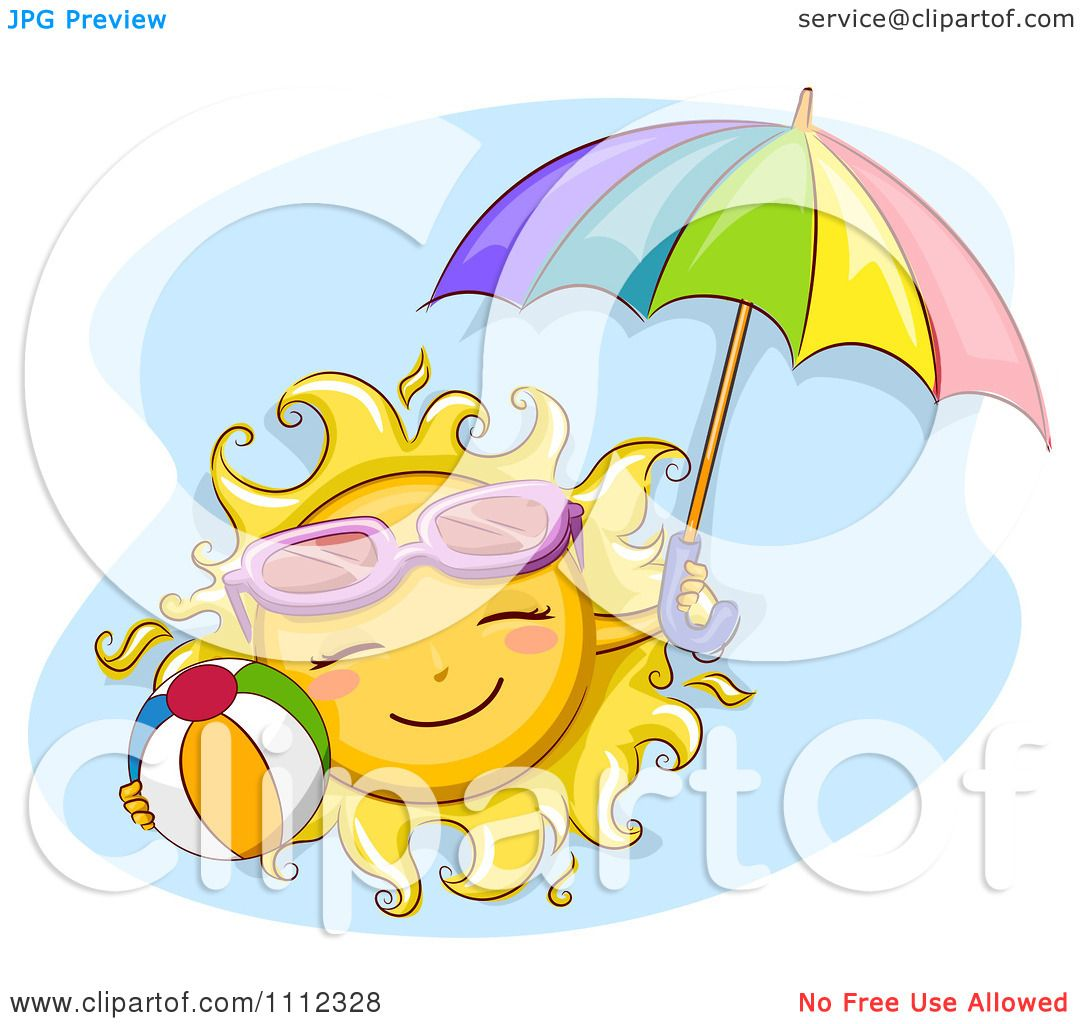 Beach Ball And Umbrella Clipart All About Clipart