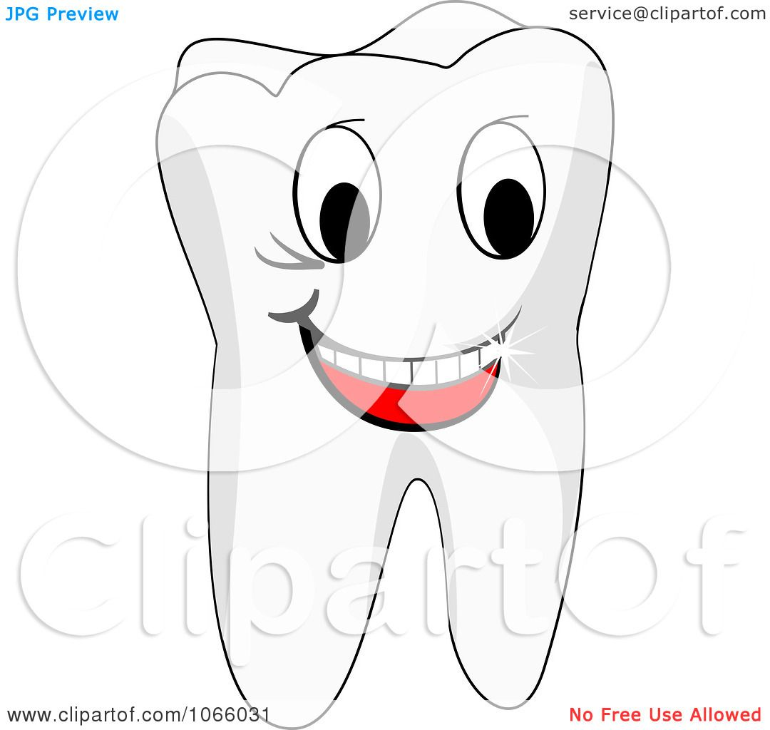 Clipart Happy Tooth - Royalty Free Vector Illustration by Vector ...