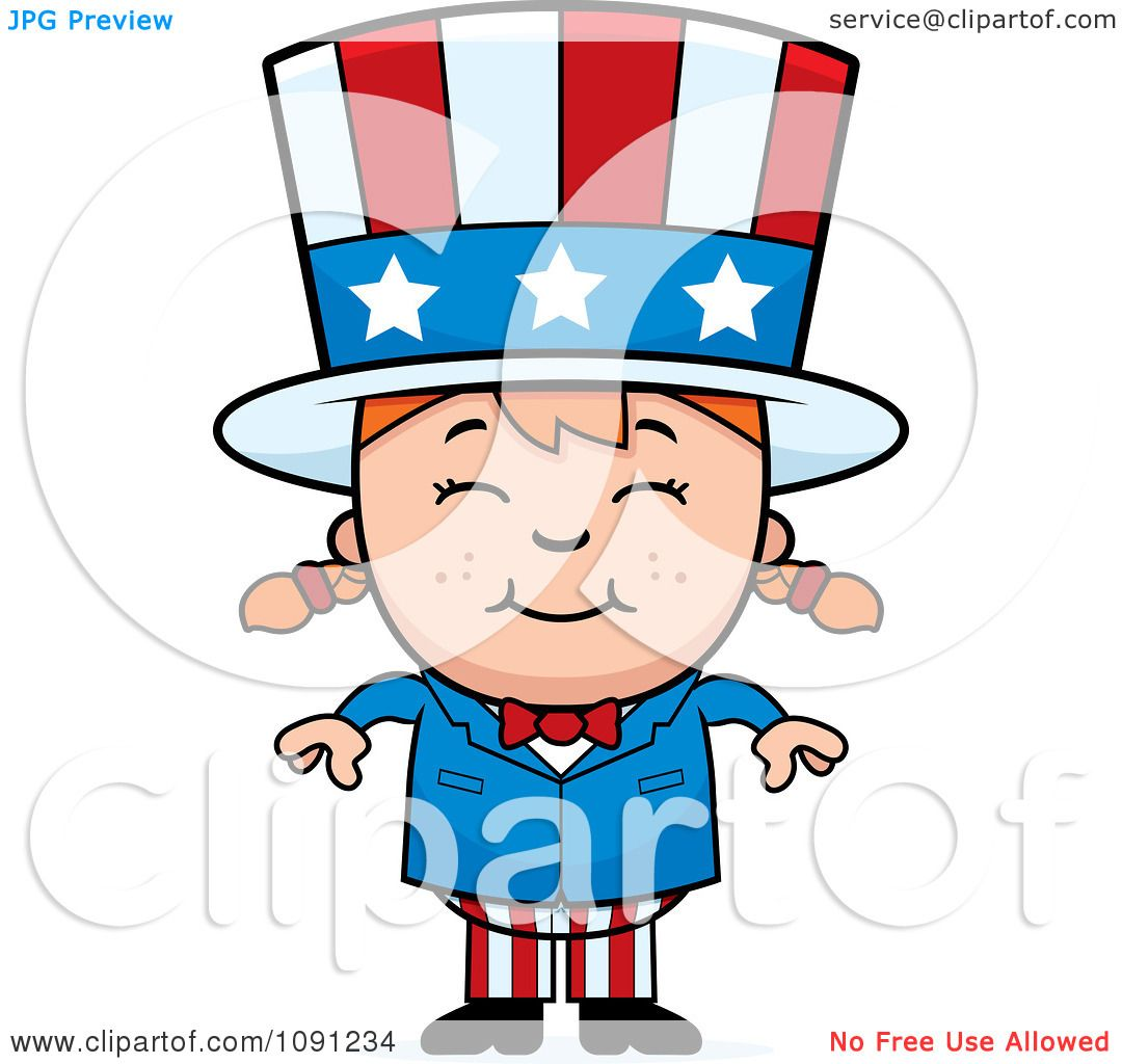 clipart happy uncle sam girl royalty free vector illustration by rh clipartof com Printable Uncle Sam Poster Uncle Sam Poster WWII