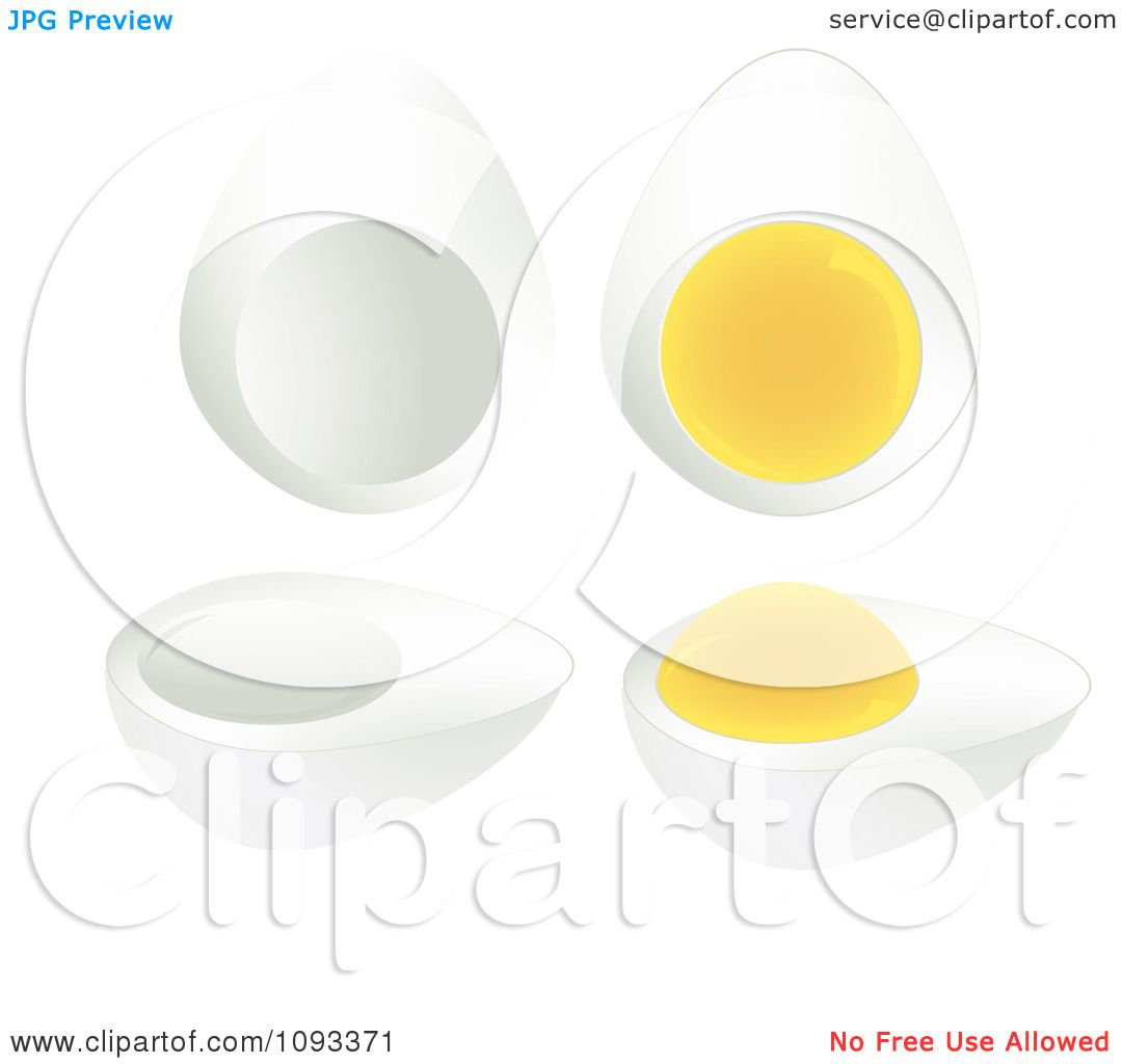 Clipart Hard Boiled Eggs - Royalty Free Vector Illustration by ... for Clipart Yolk  75sfw
