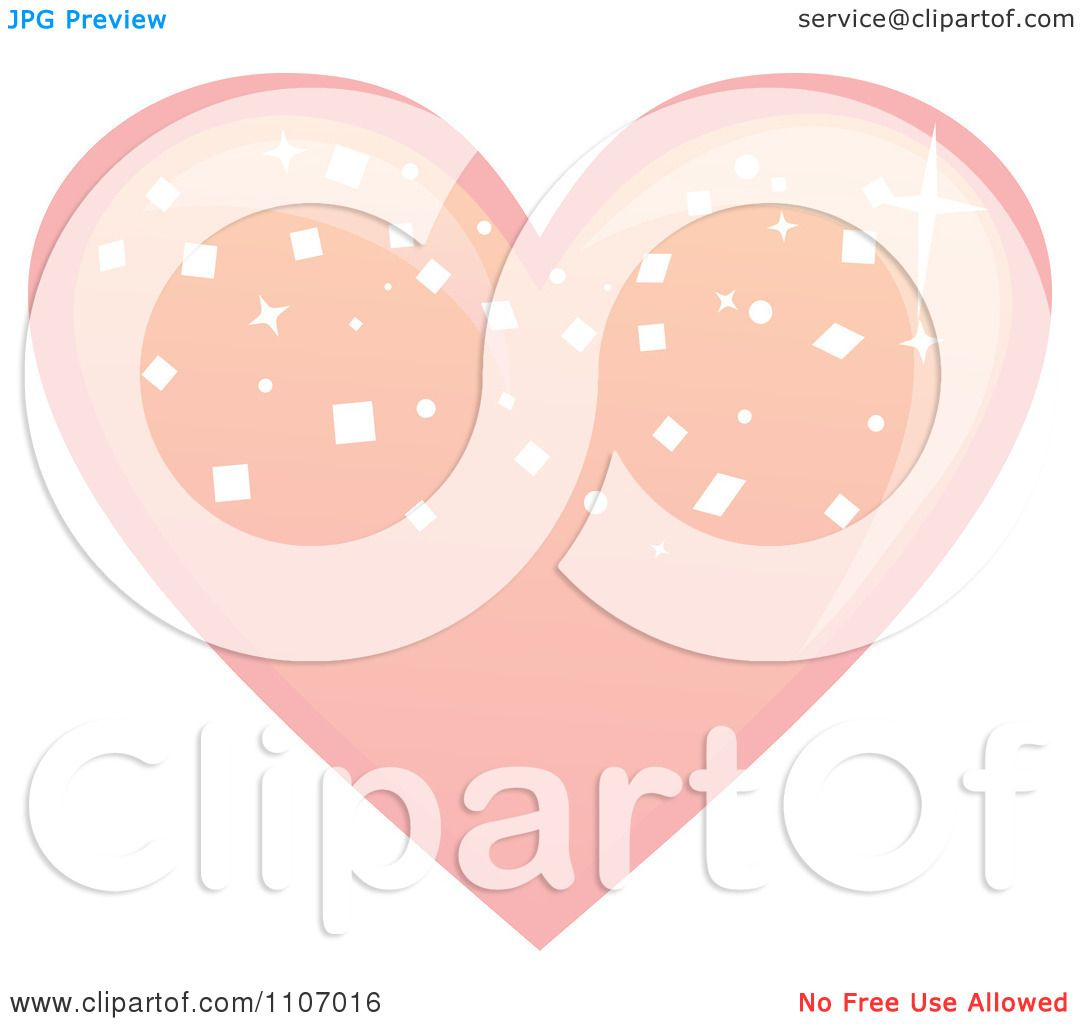 Clipart Heart Pink Bonbon Royalty Free Vector Illustration