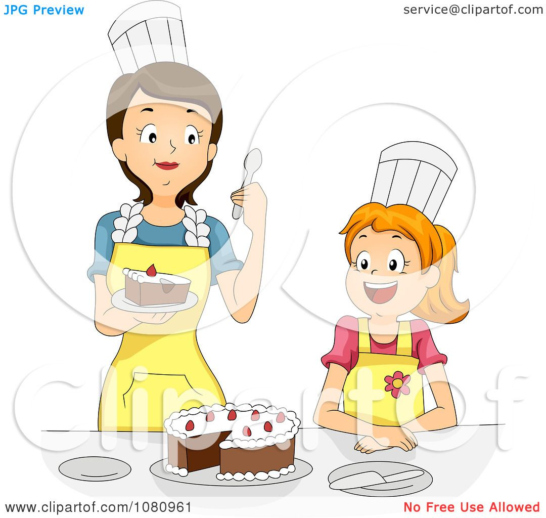 Clipart Home Economics Teacher Tasting A Girls Cake - Royalty Free ...