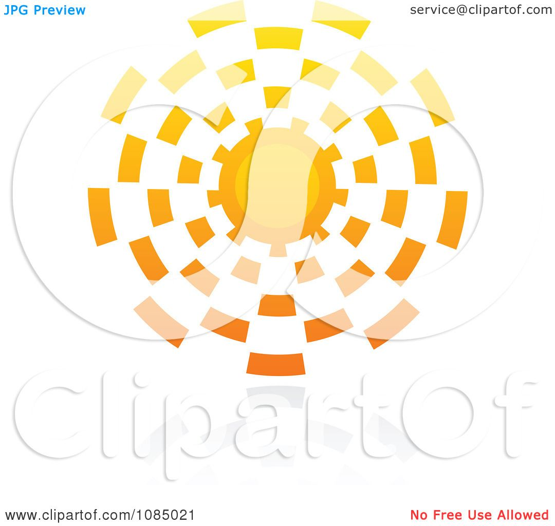 Clipart Hot Summer Sun And Reflection 9 - Royalty Free ...