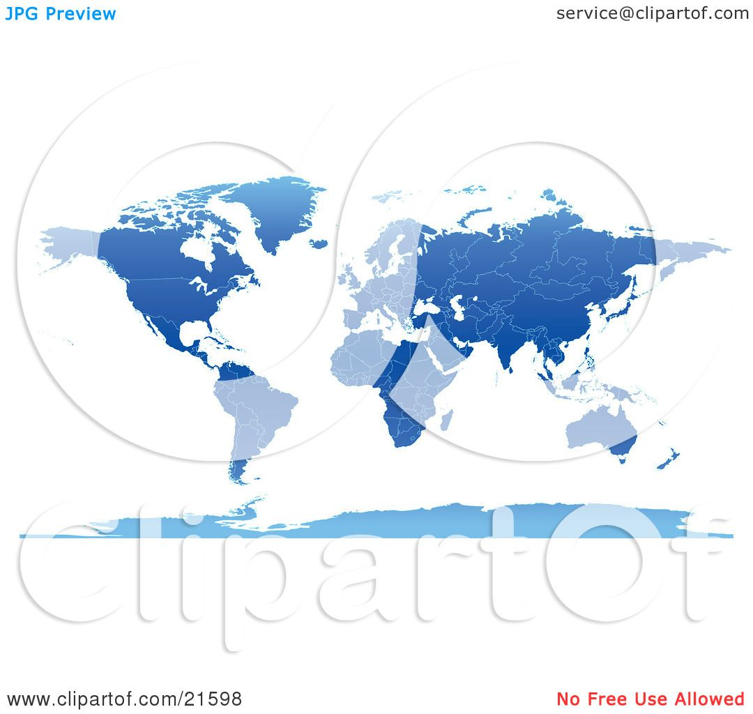 Clipart Illustration Graphic Of A Map The Continents