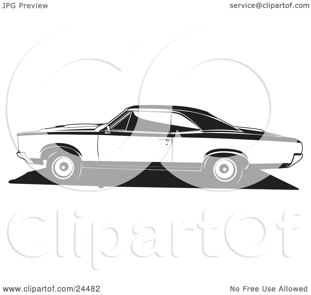 Clipart Illustration Of A 1966 Pontiac Gto Muscle Car In