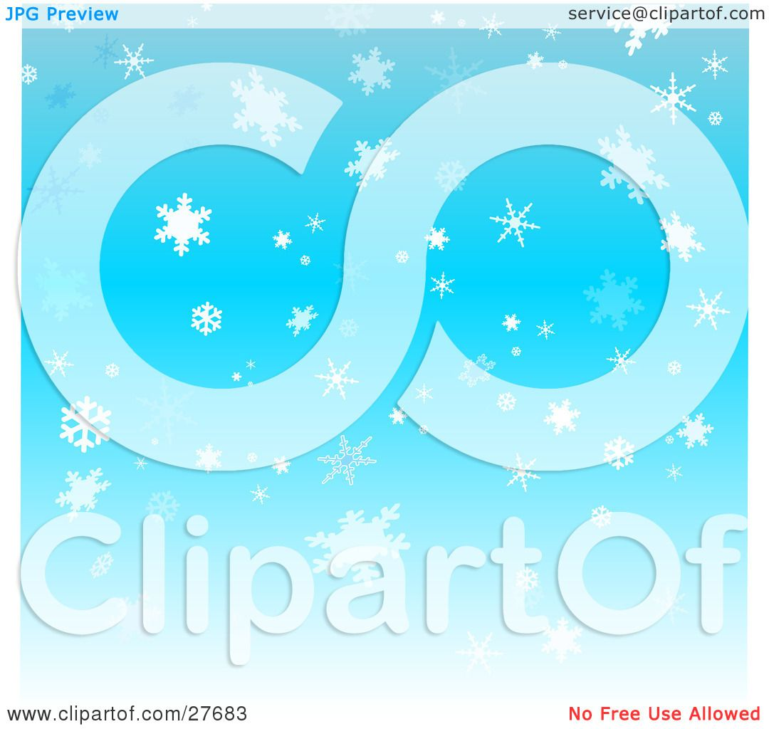 Blue Falling Snowflakes Clipart  Viewing Gallery