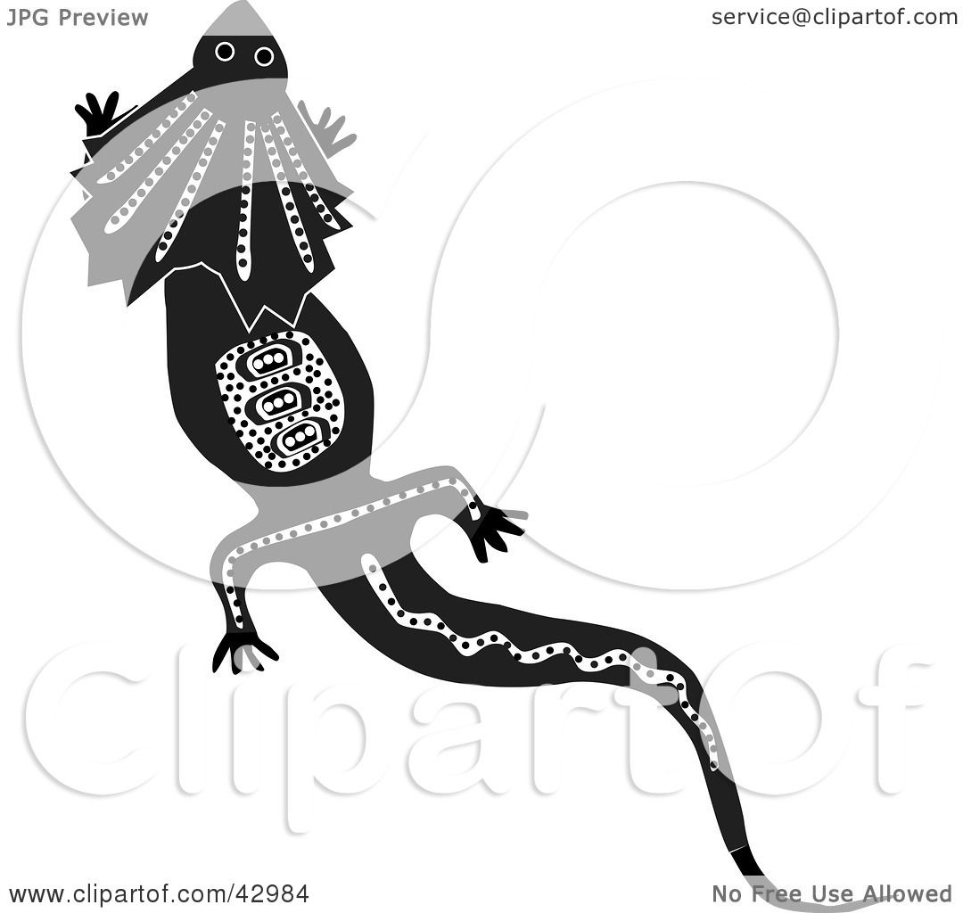 Aboriginal Art Lizard Coloring Pages