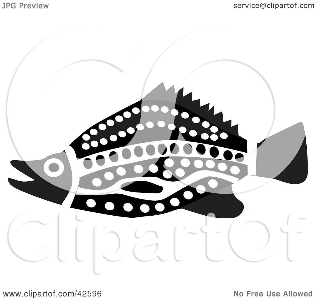 Black And White Aztec Fish