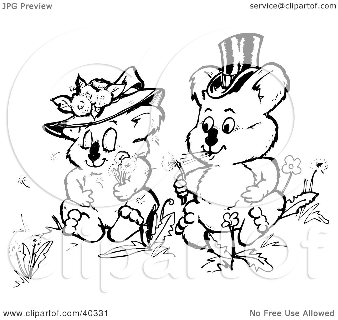 Clipart Illustration of a Black And White Coloring Book Page Of ...