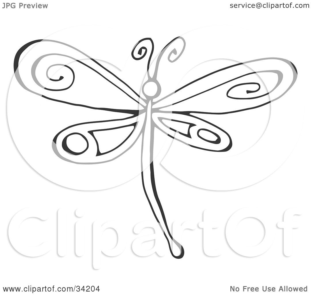 Living Room Pictures Of Pretty Designs clipart illustration of a black and white dragonfly with pretty designs on its wings by c charley franzwa