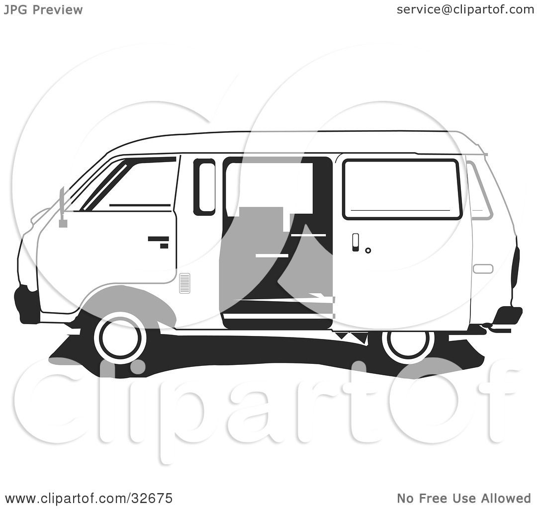 van black and white clipart - photo #32