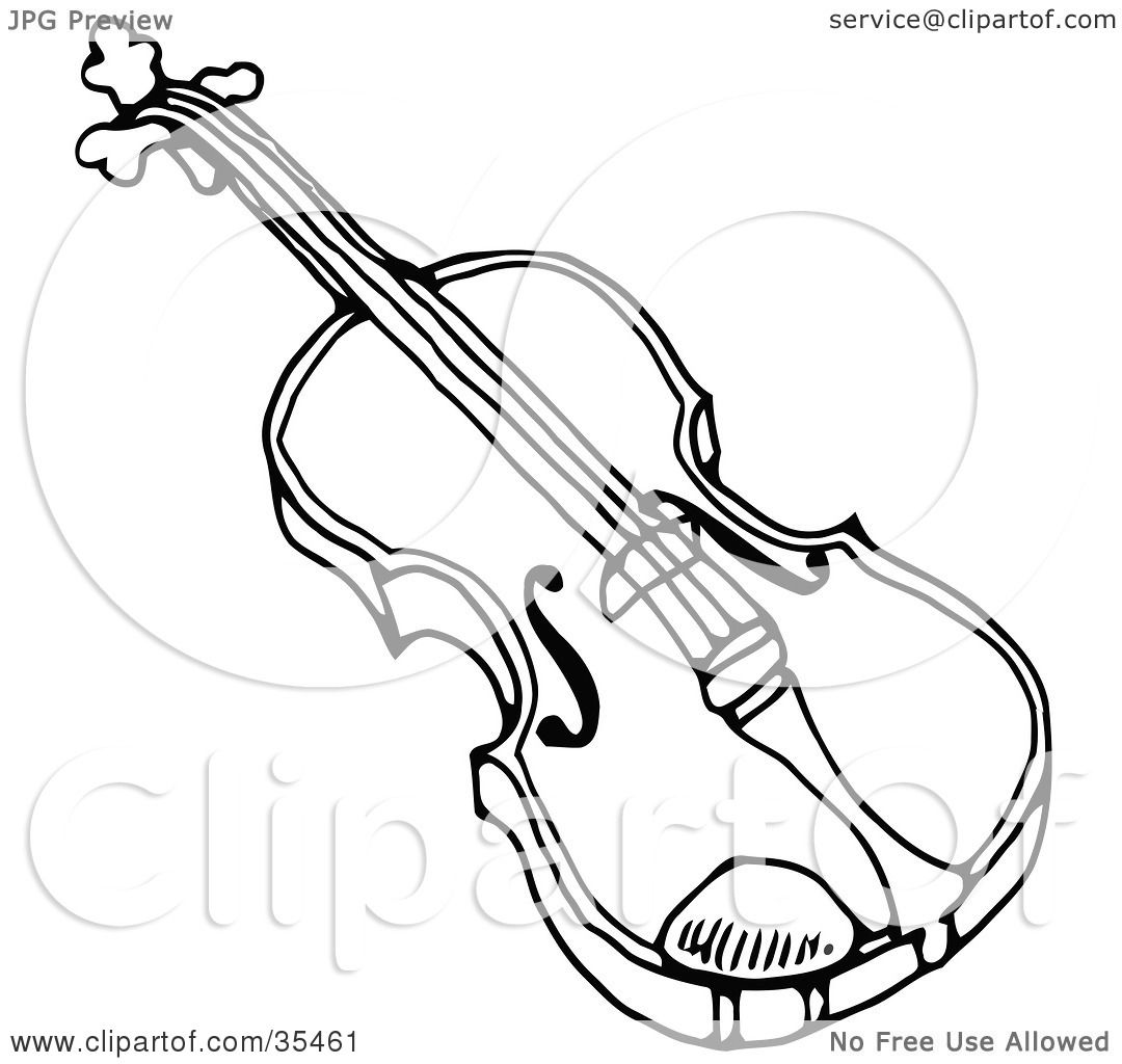 Viola drawing images galleries with a for Viola coloring page