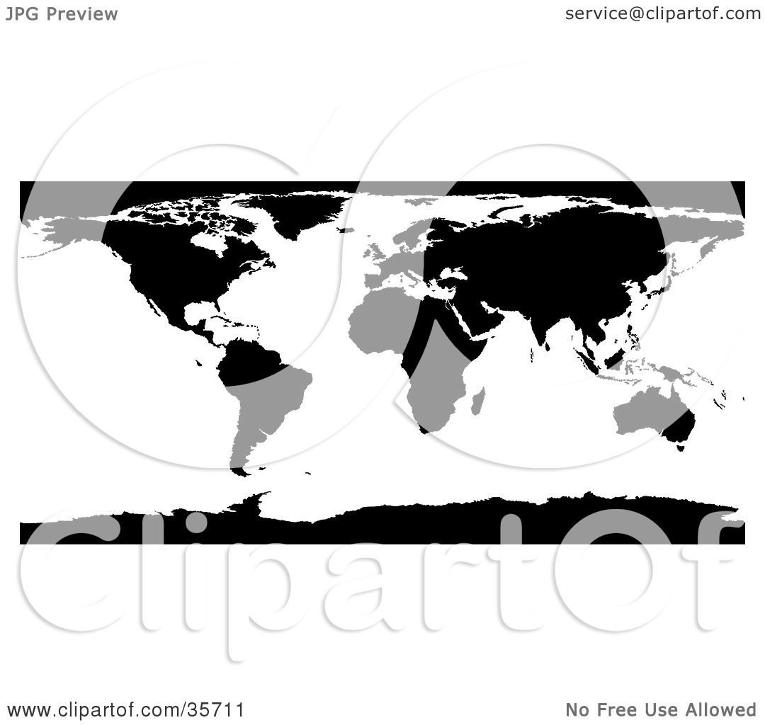 Clipart illustration of a black and white world atlas map with the clipart illustration of a black and white world atlas map with the continents and oceans by dero gumiabroncs Choice Image