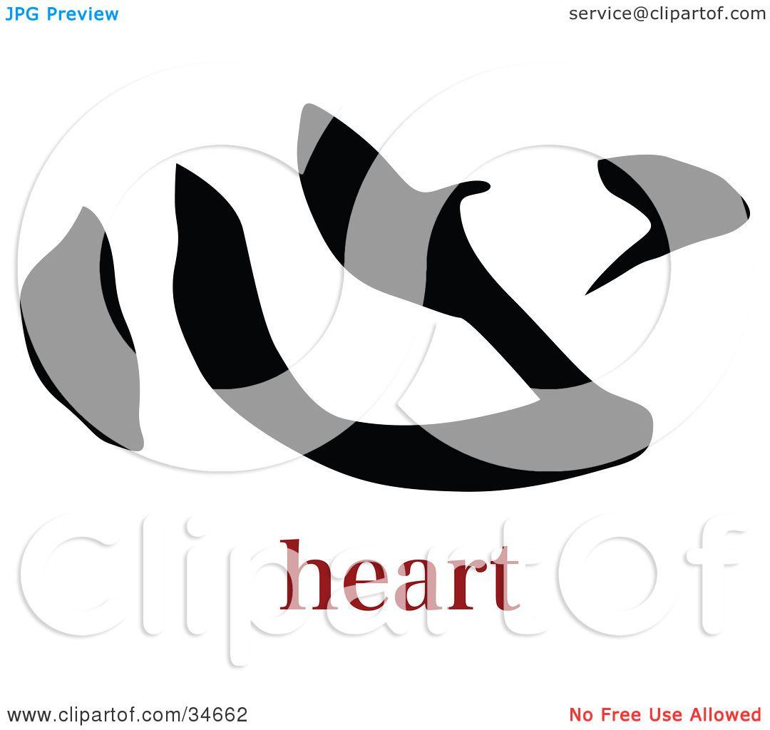 Clipart illustration of a black heart chinese symbol with text by clipart illustration of a black heart chinese symbol with text by onfocusmedia buycottarizona