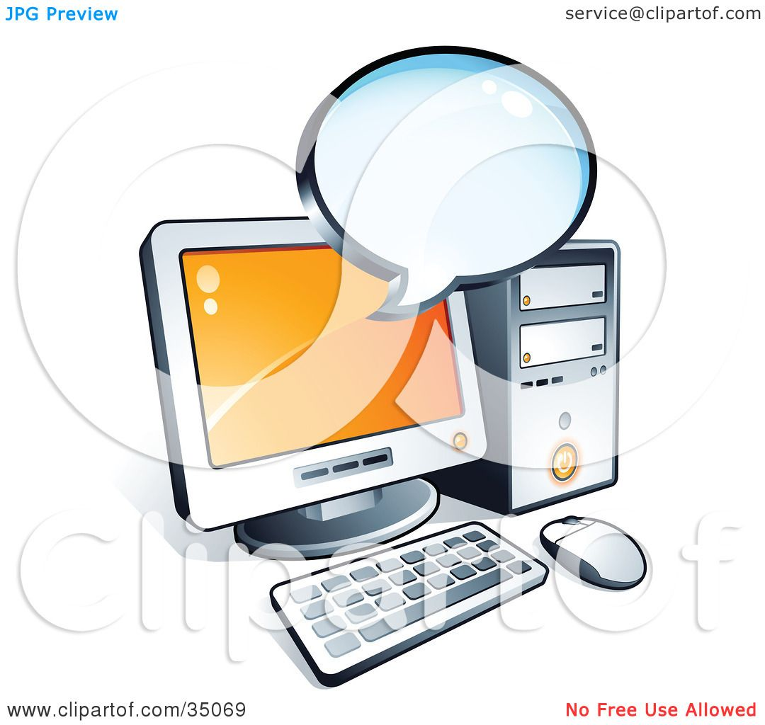 Clipart Illustration of a Blank Instant Messenger Window