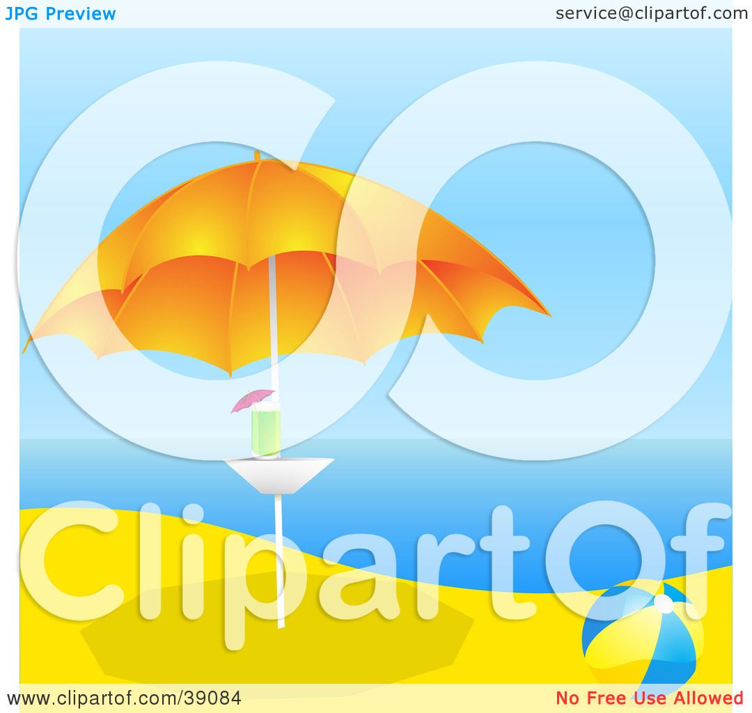 Clipart Illustration of a Blue