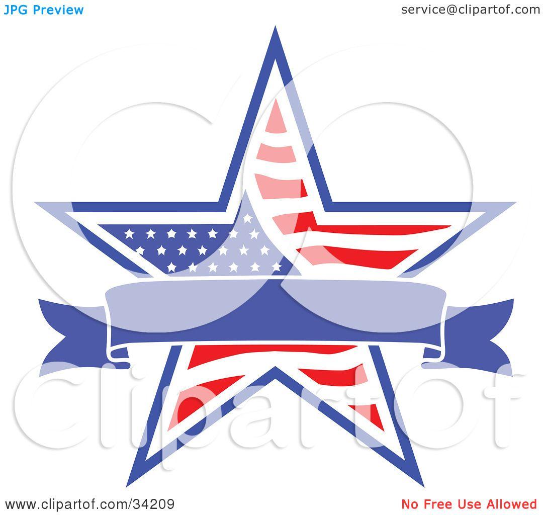 Patriotic Border Clip Art Clipart illustration of a blue