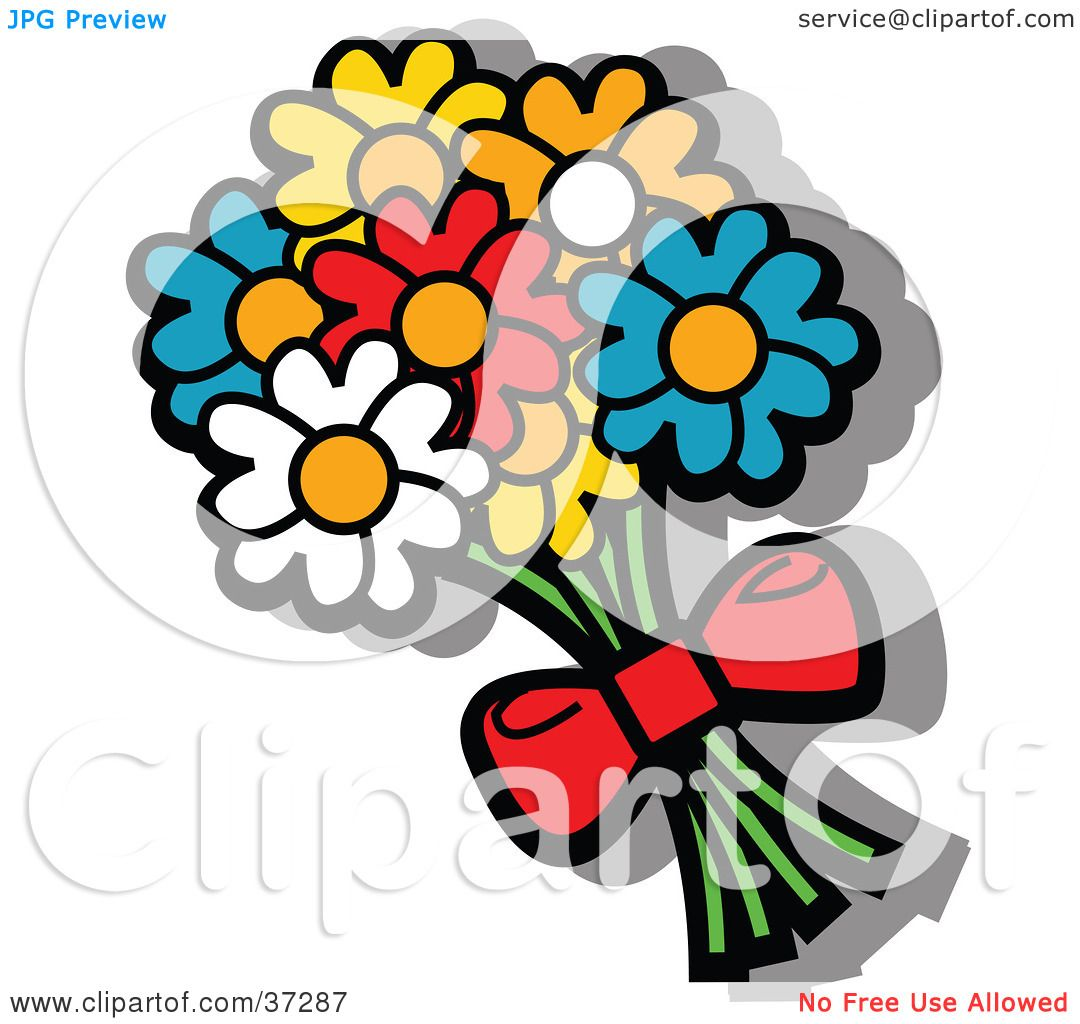 Bouquet Of Roses Clipart - Floral delivery