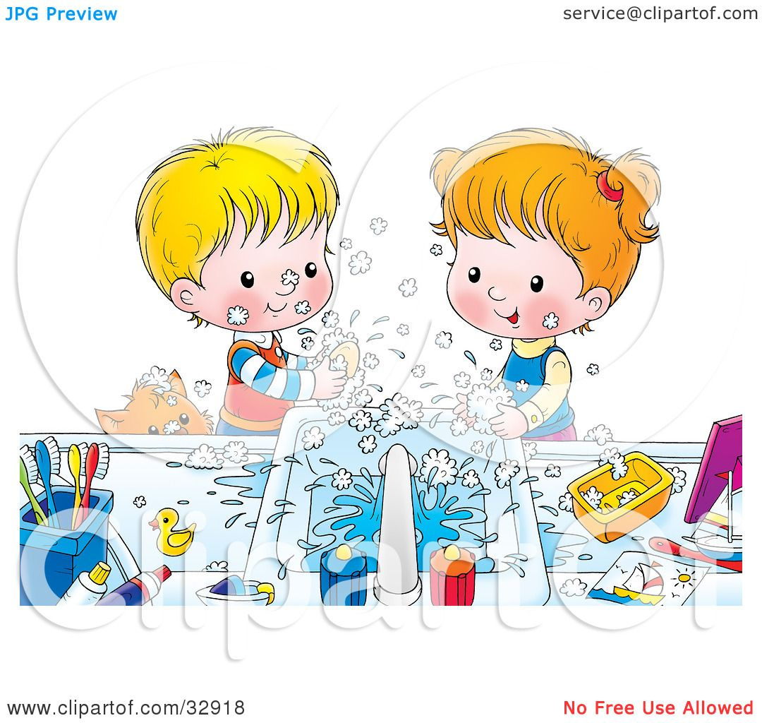 Clean Toys Clip Art Clipart illustration of a