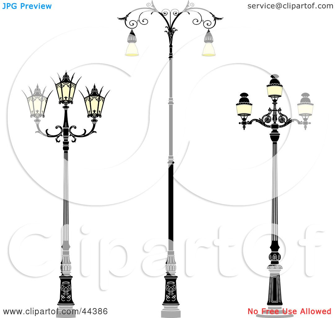 Free Coloring Pages Of Street Lamps