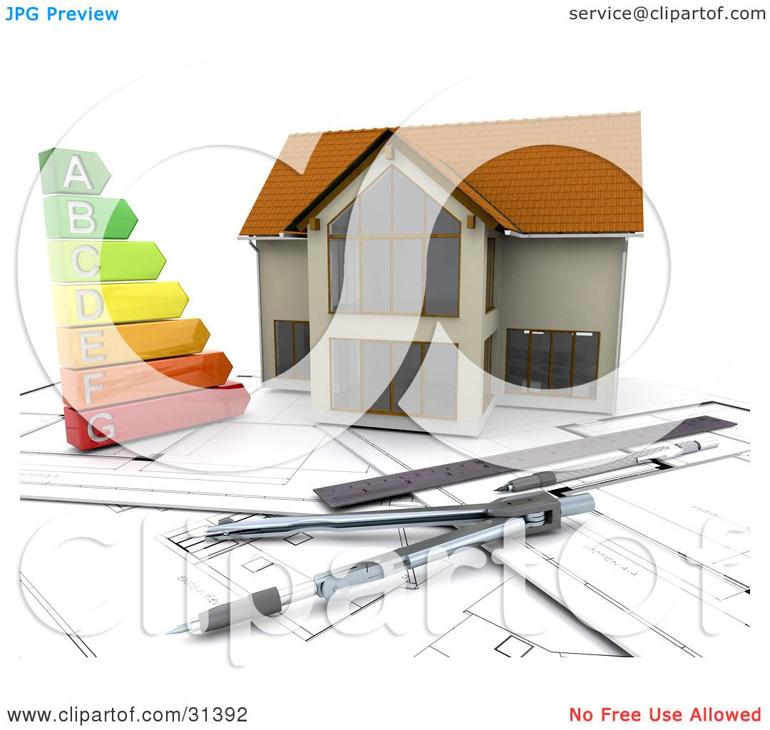 Clipart illustration of a colorful energy graph on for Home architecture tools