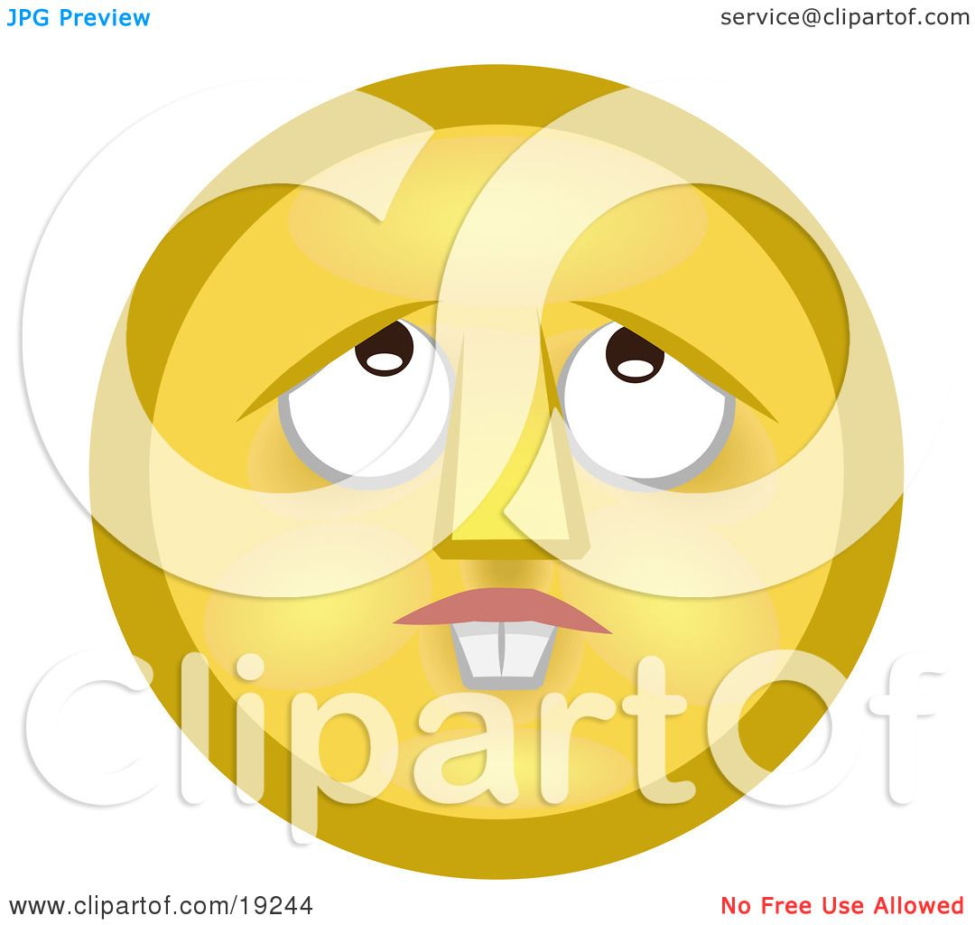 Confused Smiley Face Clip Art