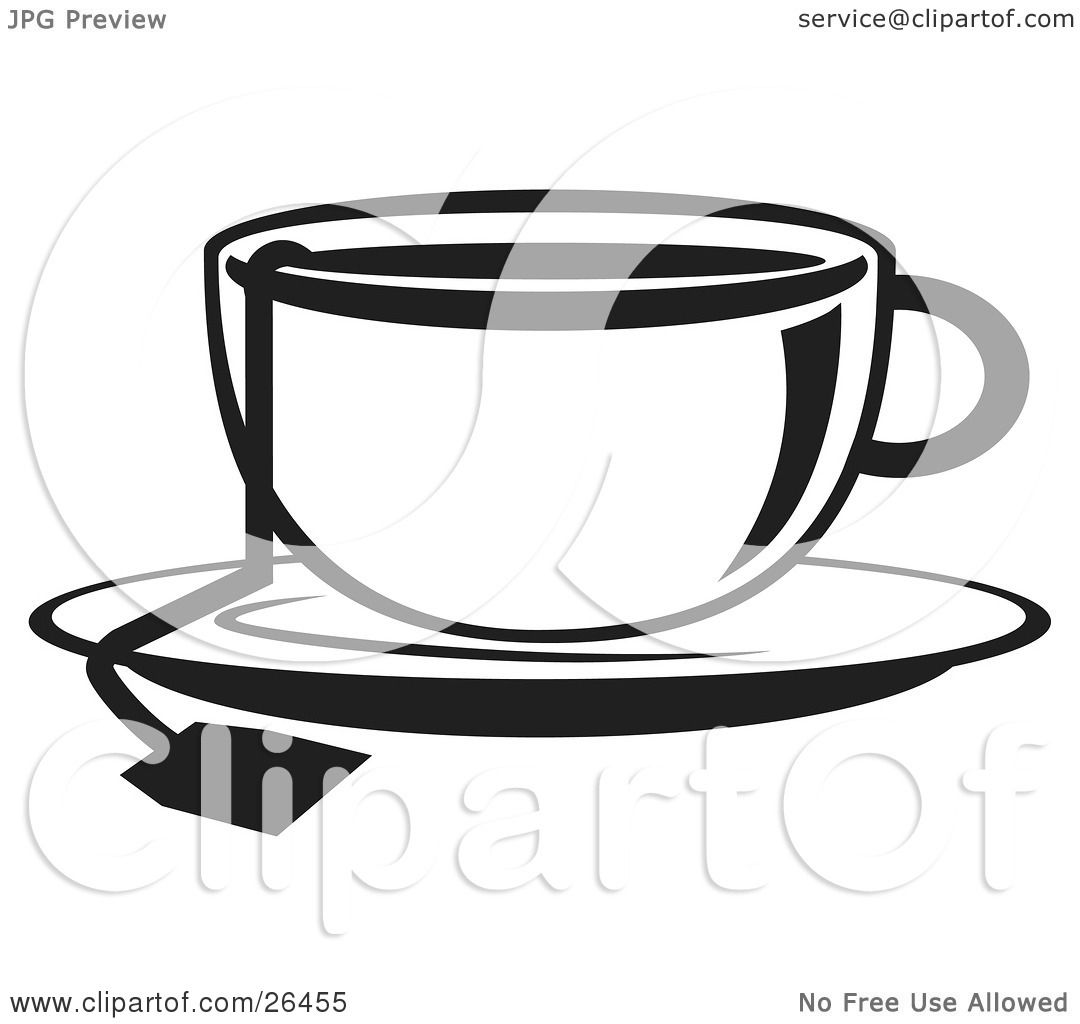 tea cup clipart black and white - photo #40