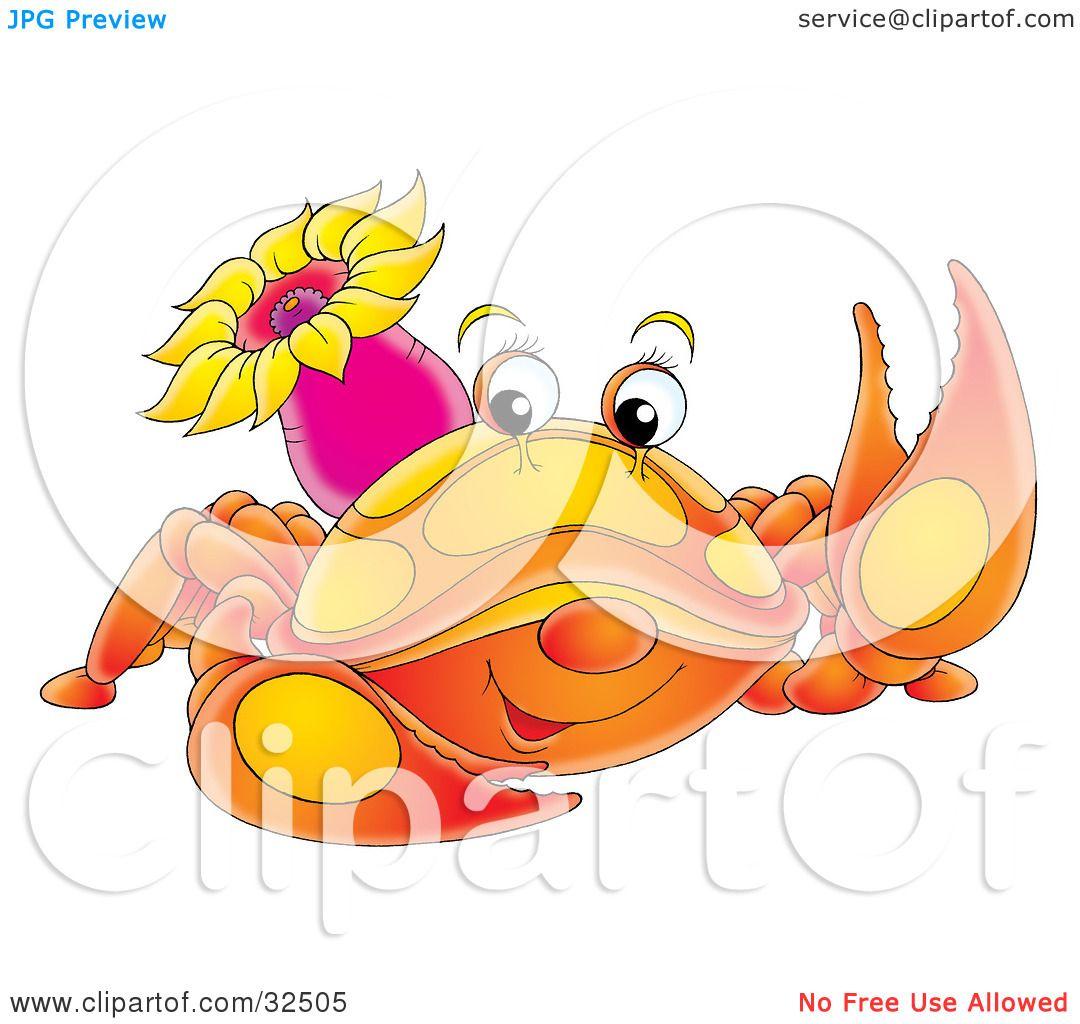 Cute Blue Crab Clip Art Clipart illustration of a cute