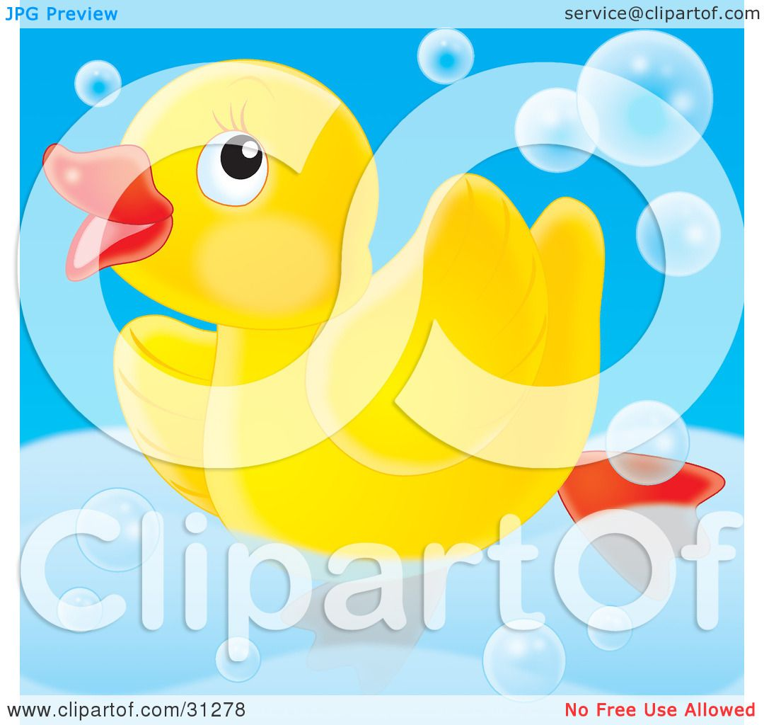 Clipart Illustration Of A Cute Yellow Rubber Ducky