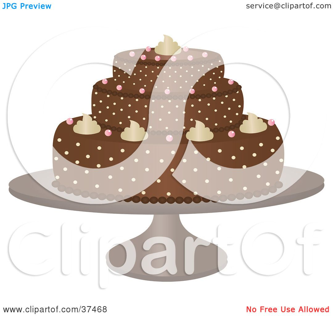 Delicious Cake Clipart : Clipart Illustration of a Delicious Chocolate Cake With ...