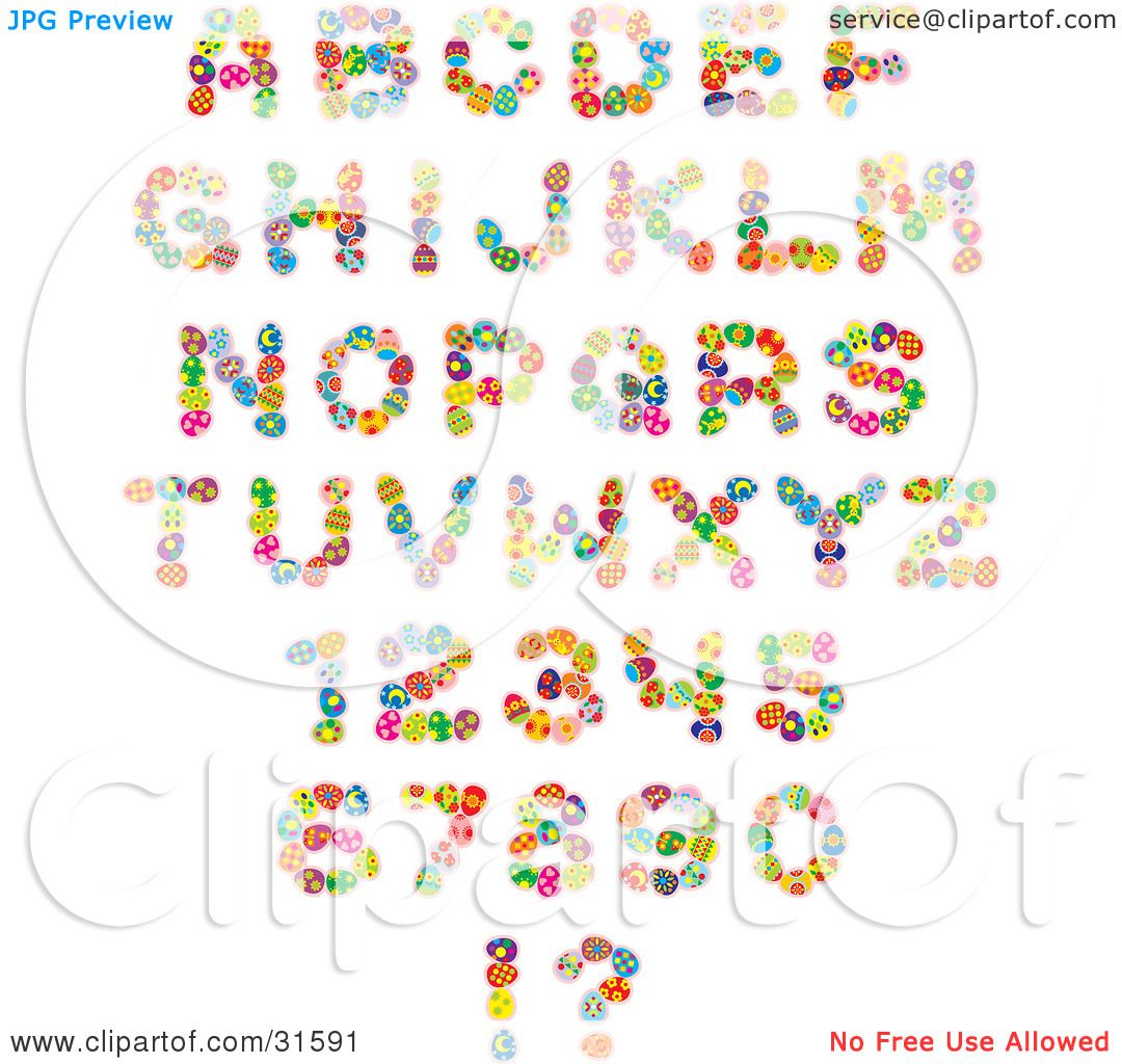Clipart Illustration of a Font